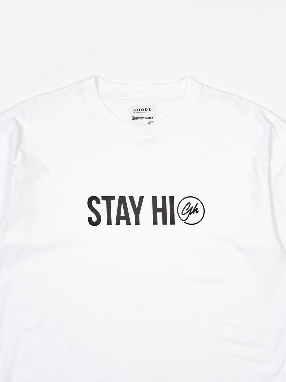 Goods By Goodhood Goodhood Stay High T-Shirt- White - White - White