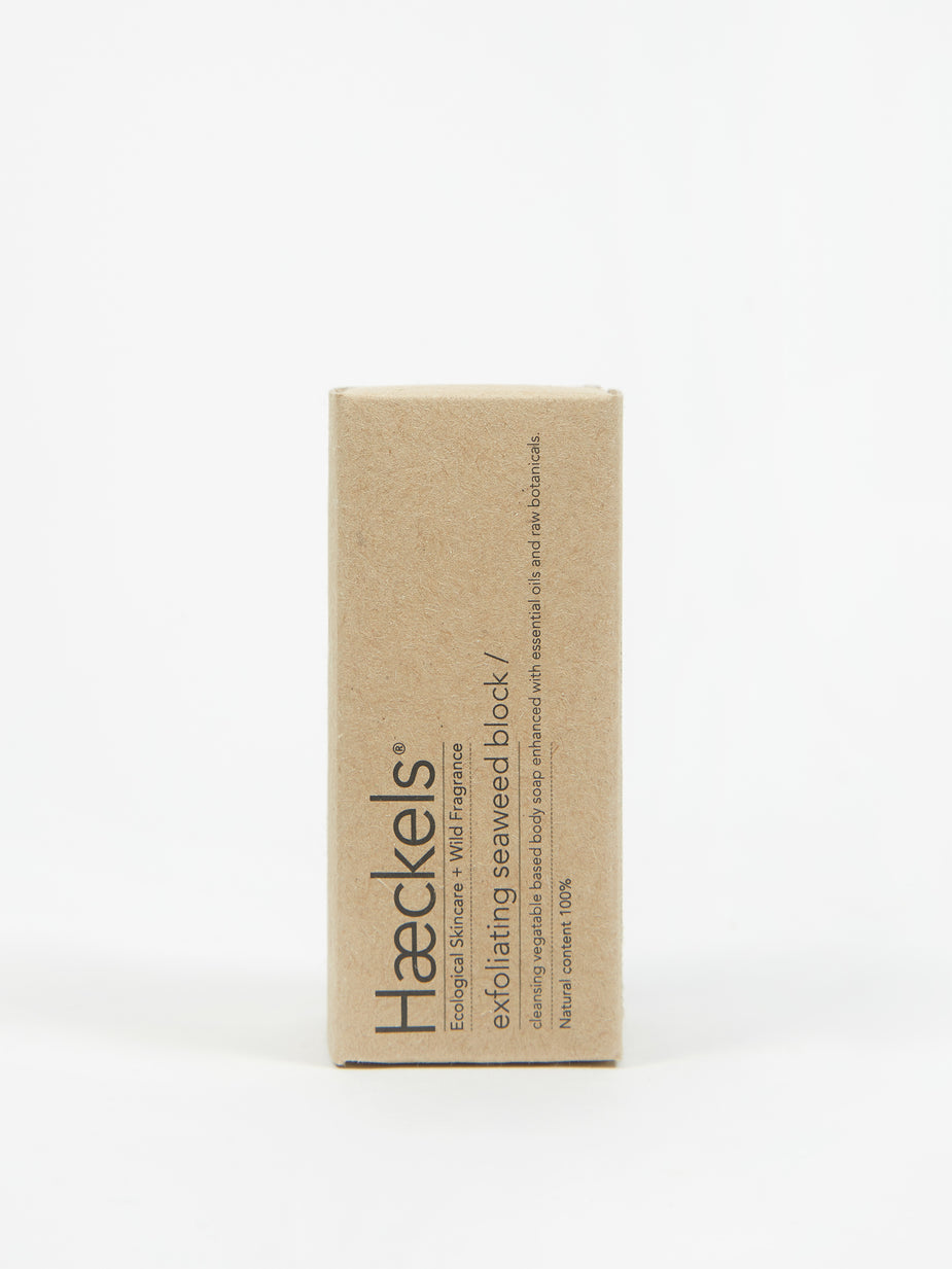 Haeckels Haeckels Exfoliating Seaweed Soap Block - 80g - Brown