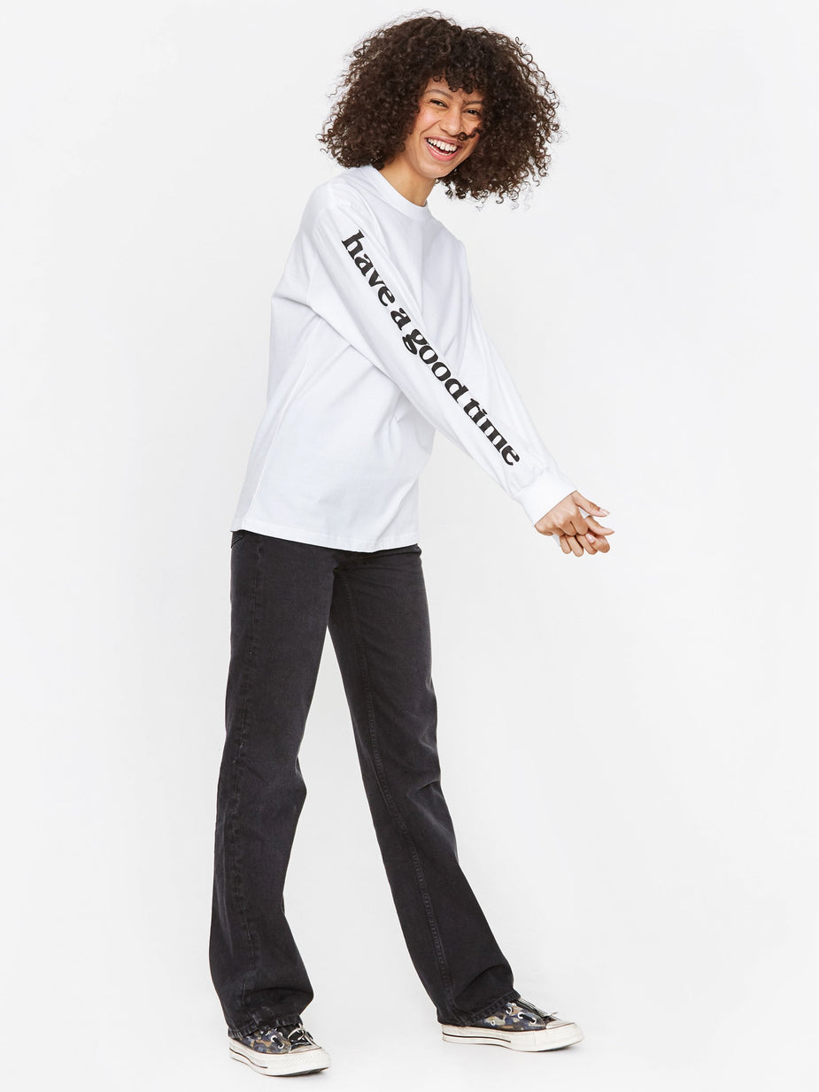 Have A Good Time Have A Good Time Arm Bubble Side Logo Longsleeve T-Shirt - White - White