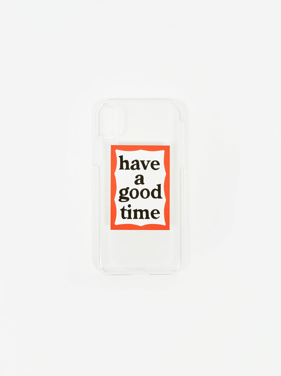 Have A Good Time Have A Good Time Frame X/XS IPhone Case - Clear