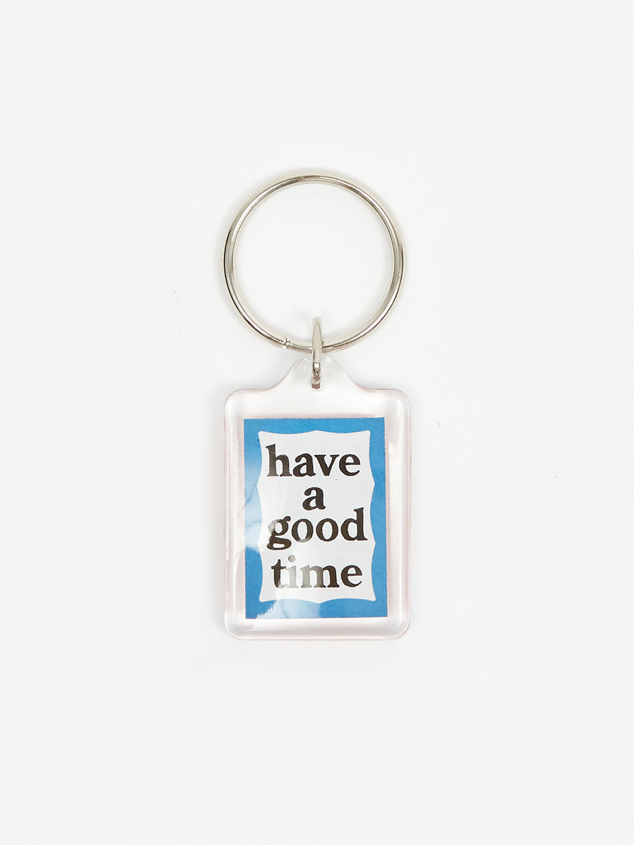 Have A Good Time Have A Good Time Frame Key Ring - Red/Blue - Silver