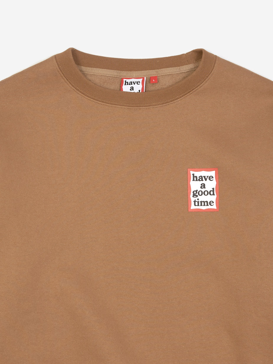 Have A Good Time Have A Good Time Mini Frame Crewneck Sweatshirt - Cinnamon - Brown