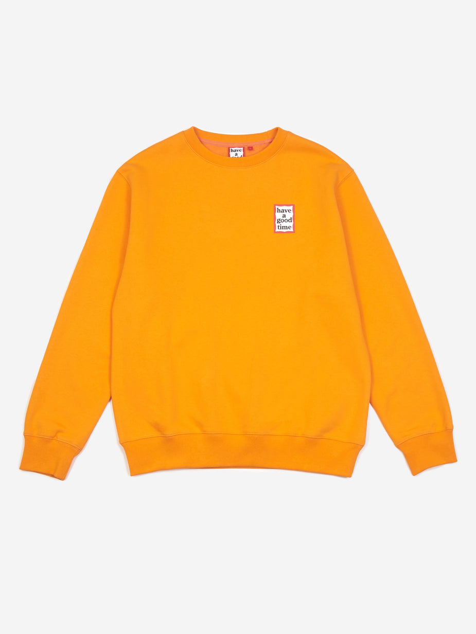Have A Good Time Have A Good Time Mini Frame Crewneck Sweatshirt - Tangerine - Orange