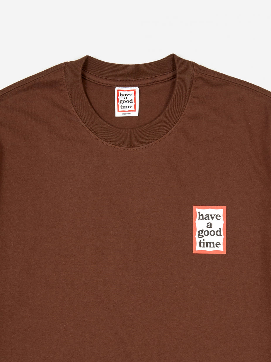 Have A Good Time Have A Good Time Mini Frame T-Shirt - Chocolate