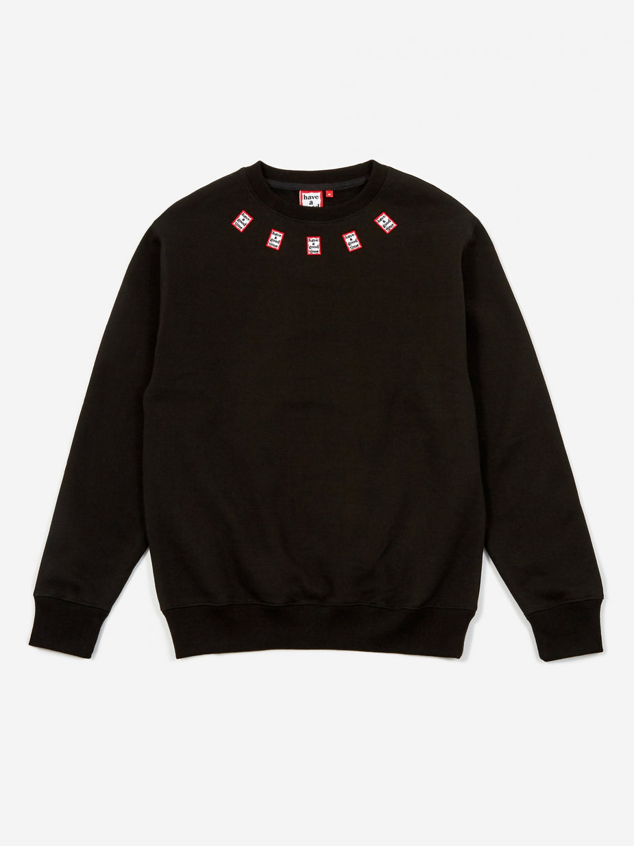 Have A Good Time Have A Good Time Mini Mini Frame Neck Crewneck Sweatshirt - Black - Black
