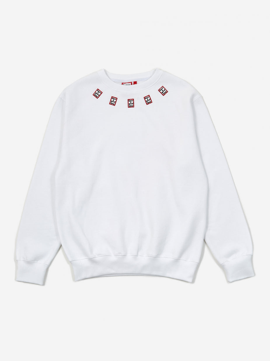 Have A Good Time Have A Good Time Mini Mini Frame Neck Crewneck Sweatshirt - White - White
