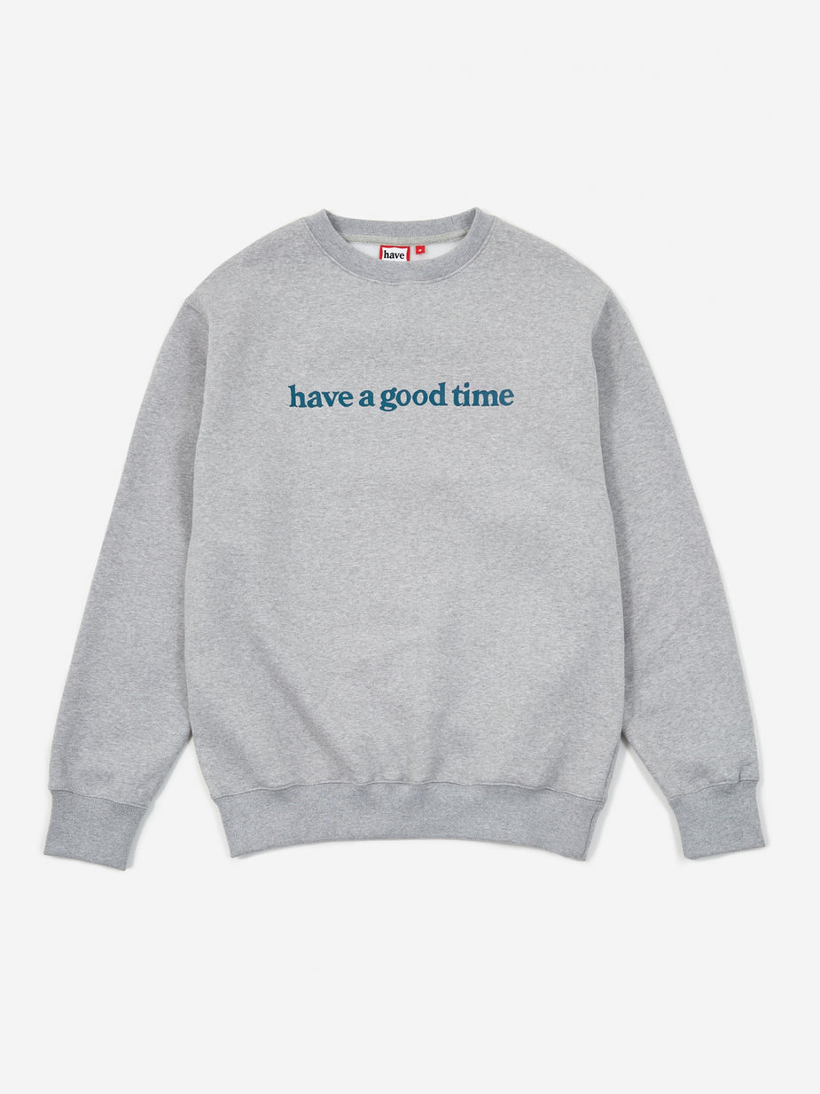 Have A Good Time Have A Good Time Side Logo Crewneck Sweatshirt - Heather Grey - Grey