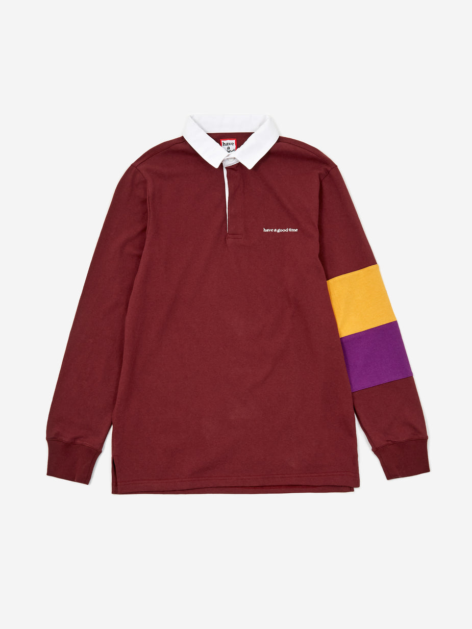 Have A Good Time Have A Good Time Rugby Shirt - Maroon