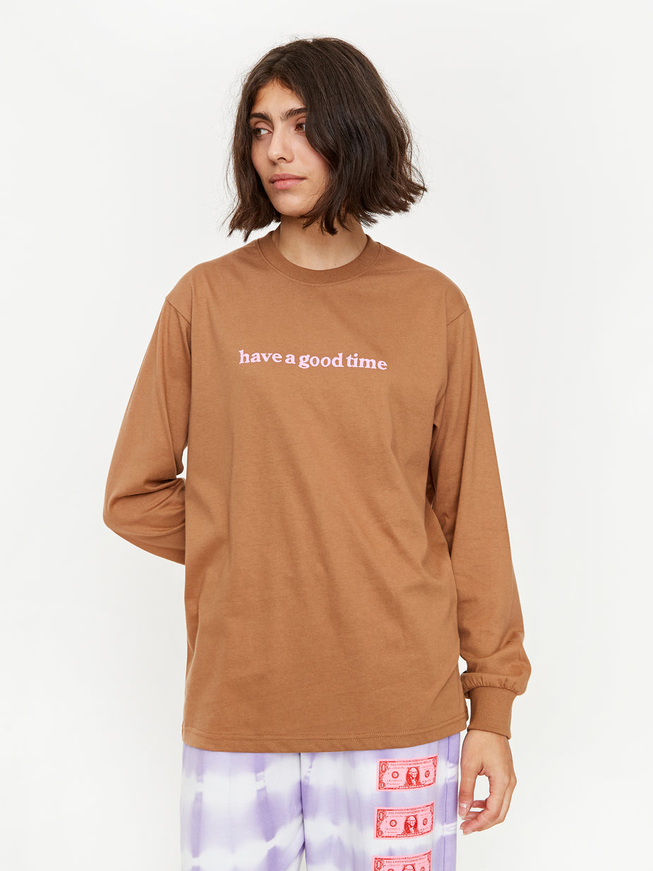 Have A Good Time Have A Good Time Side Logo Longsleeve T-Shirt - Cinnamon - Brown