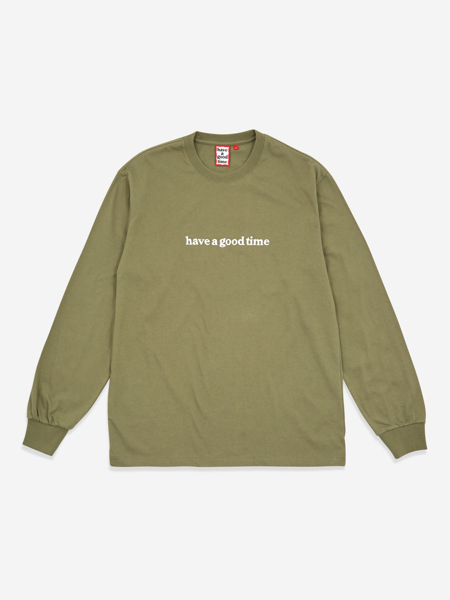 Have A Good Time Have A Good Time Side Logo Longsleeve T-Shirt - Sage - Green