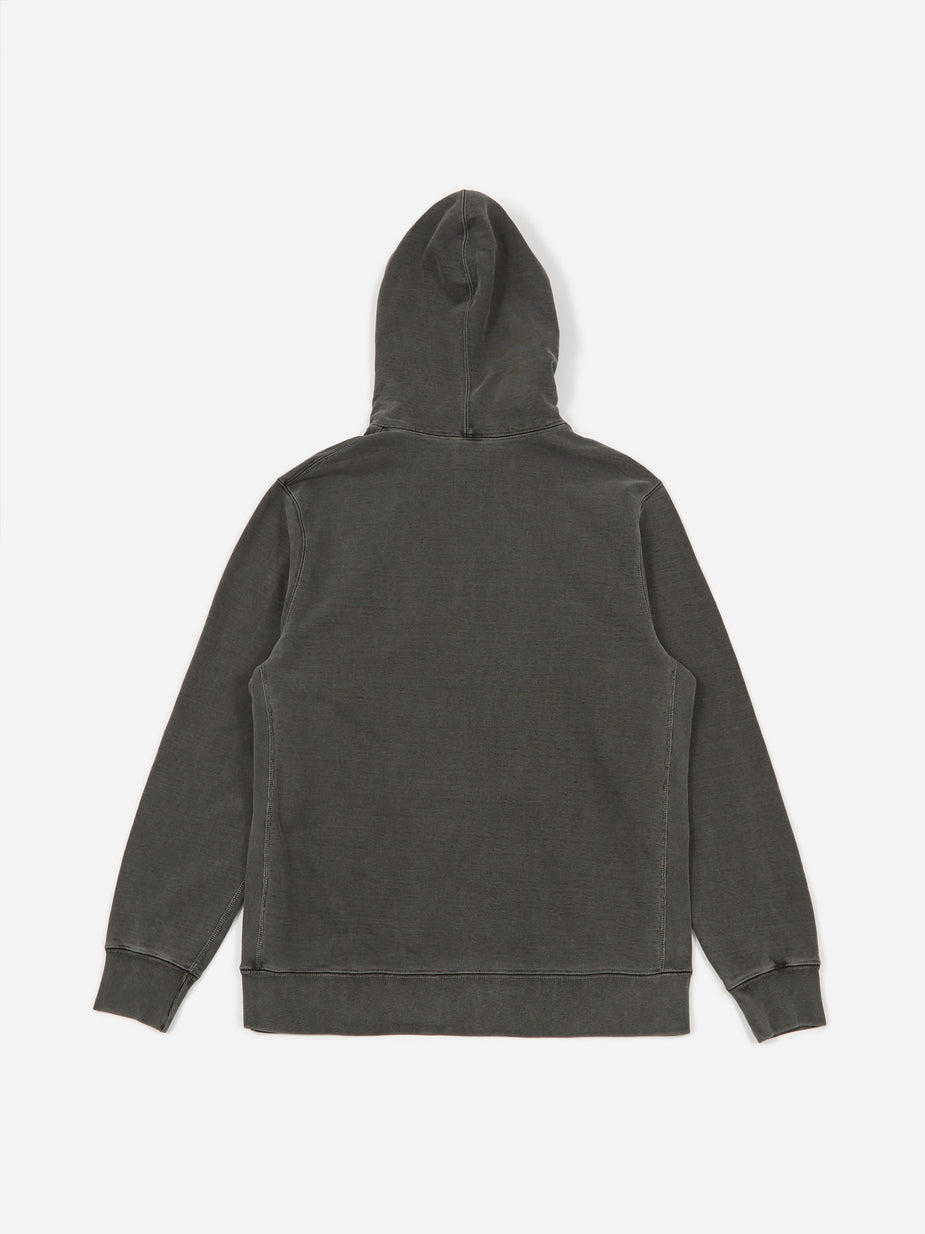 Haven Haven Pigment Dyed Heavyweight Hoodie Cotton Fleece - Charcoal - Grey