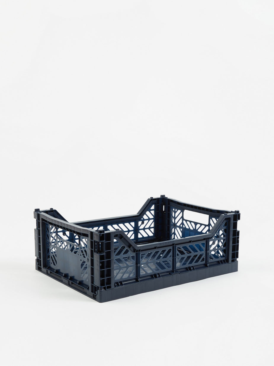 HAY Hay Colour Crate Medium - Navy - Blue
