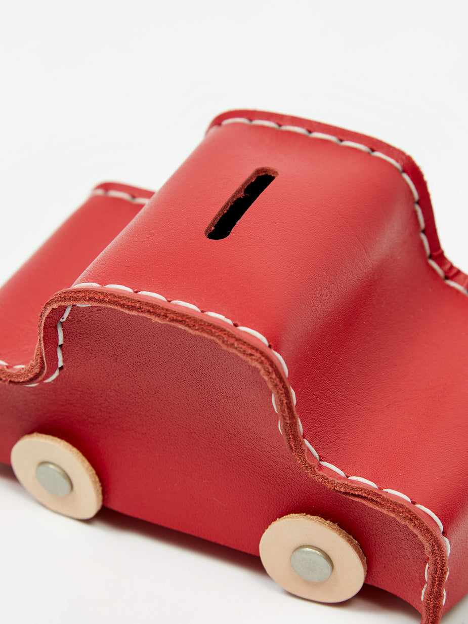 Hender Scheme Hender Scheme Car Coin Bank - Red - Red