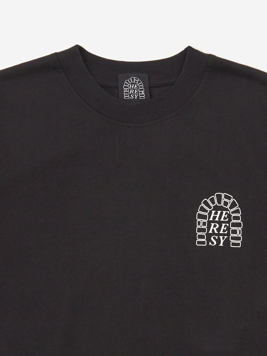 Heresy Heresy Research Shortsleeve T-Shirt - Black - Black