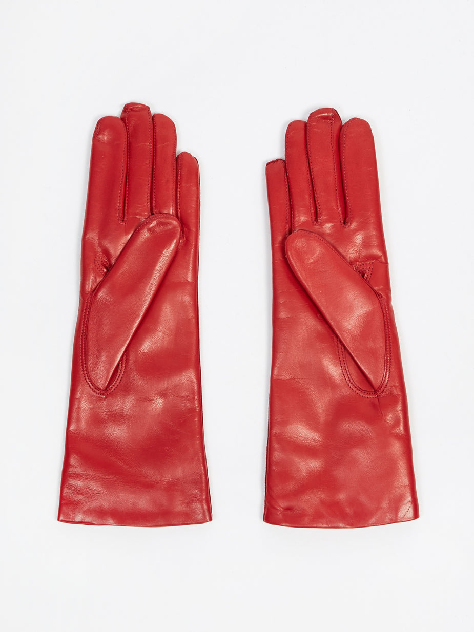 Hestra Hestra Leather Pique Cashmere Glove - Red - Red