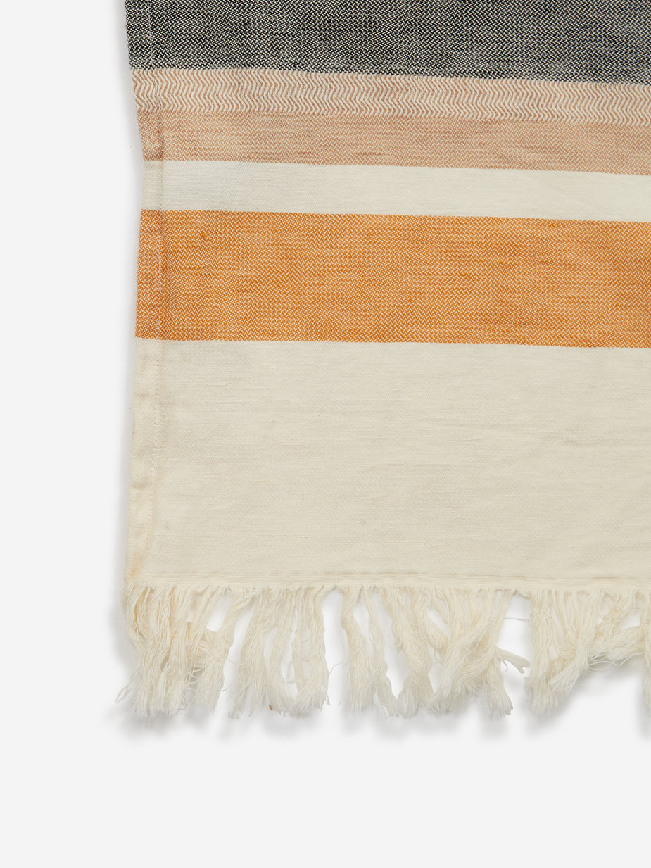 House Doctor House Doctor Marly Plaid Blanket - Off White - Brown
