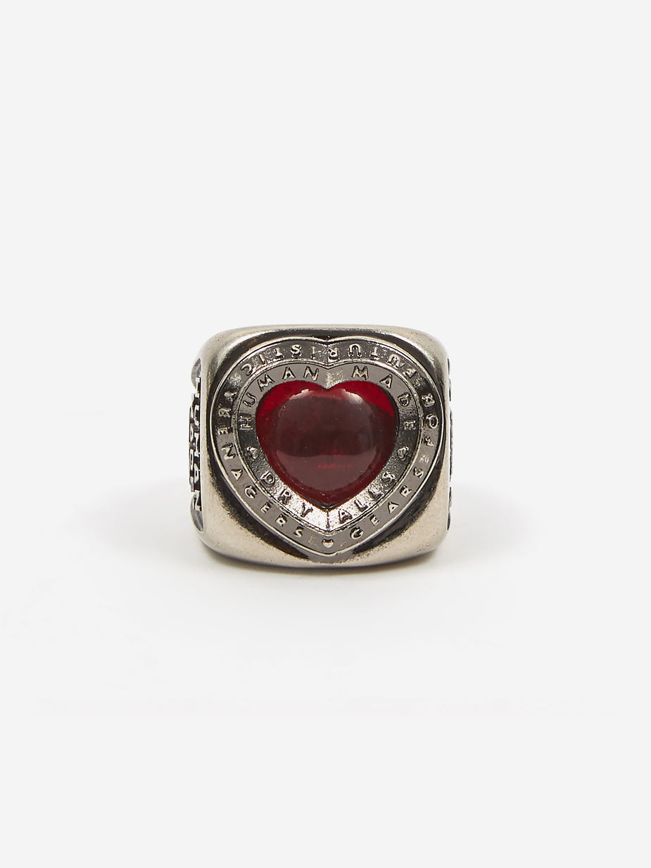 Human Made Human Made Heart College Ring - Silver - Silver