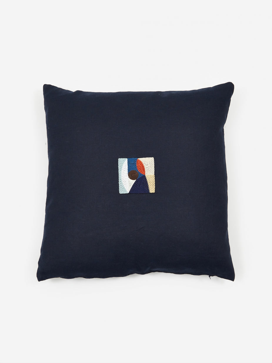 Laurie Maun Laurie Maun Navy Peep Hole Cushion