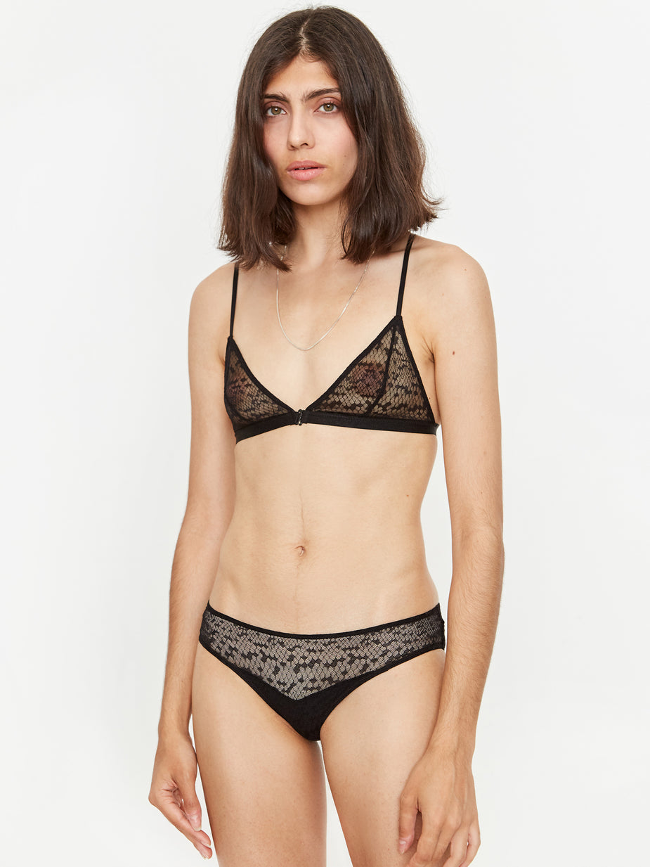 Les Girls Les Boys Les Girl Les Boy Snake Lace Mini Brief - Black - Black