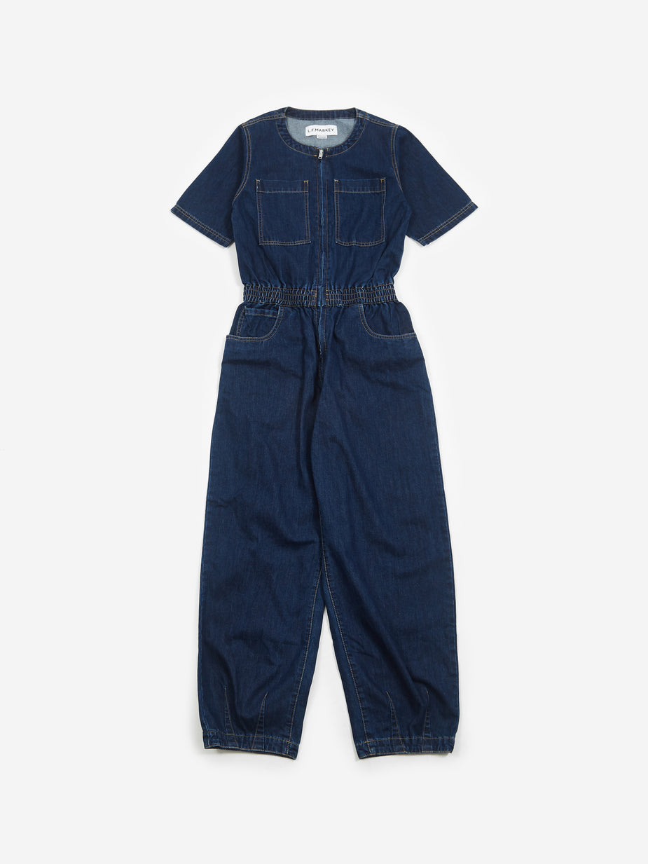 LF Markey LF Markey Francis Boilersuit - Indigo - Blue