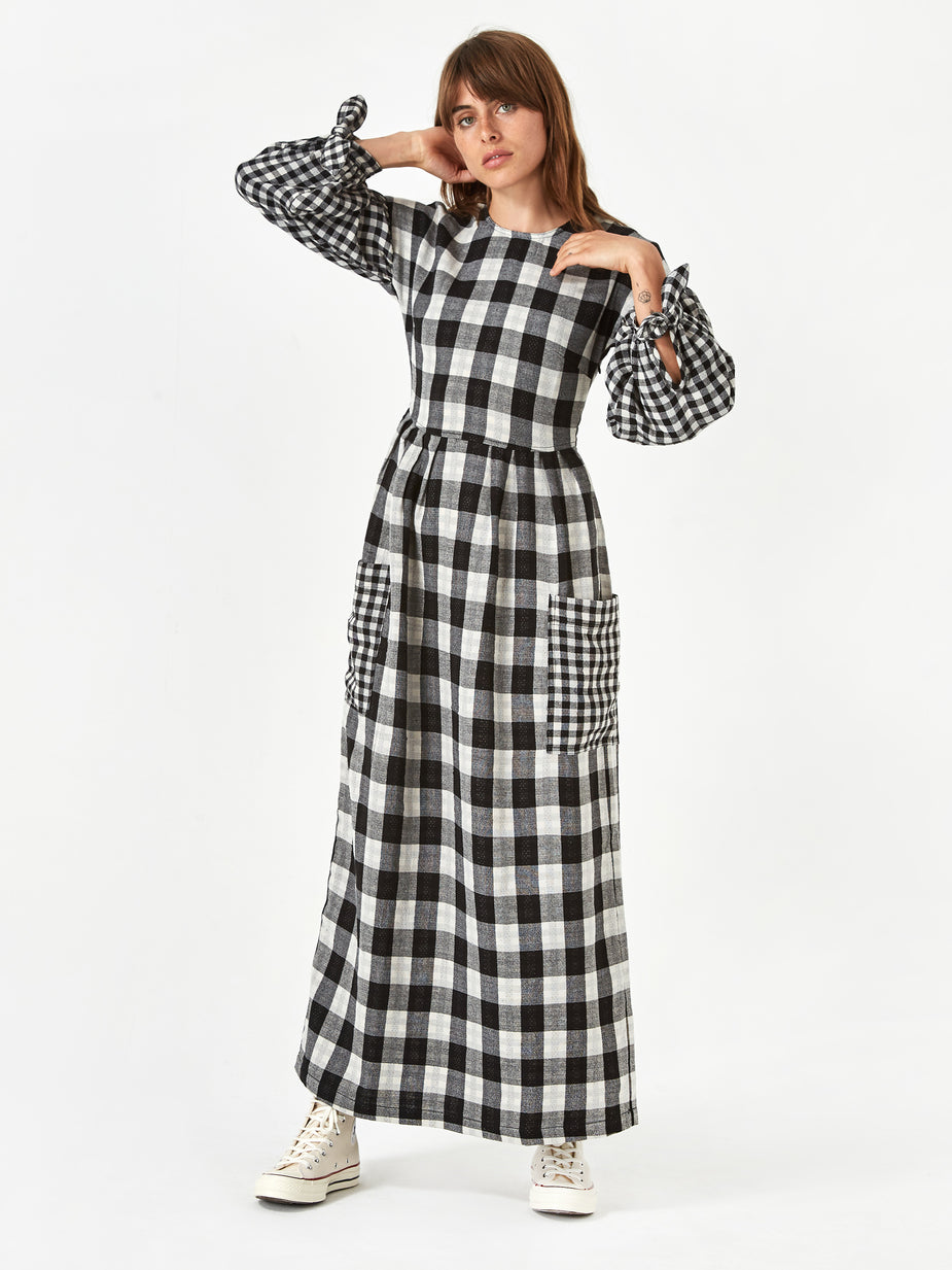LF Markey LF Markey Joe Dress - Black Check - Black