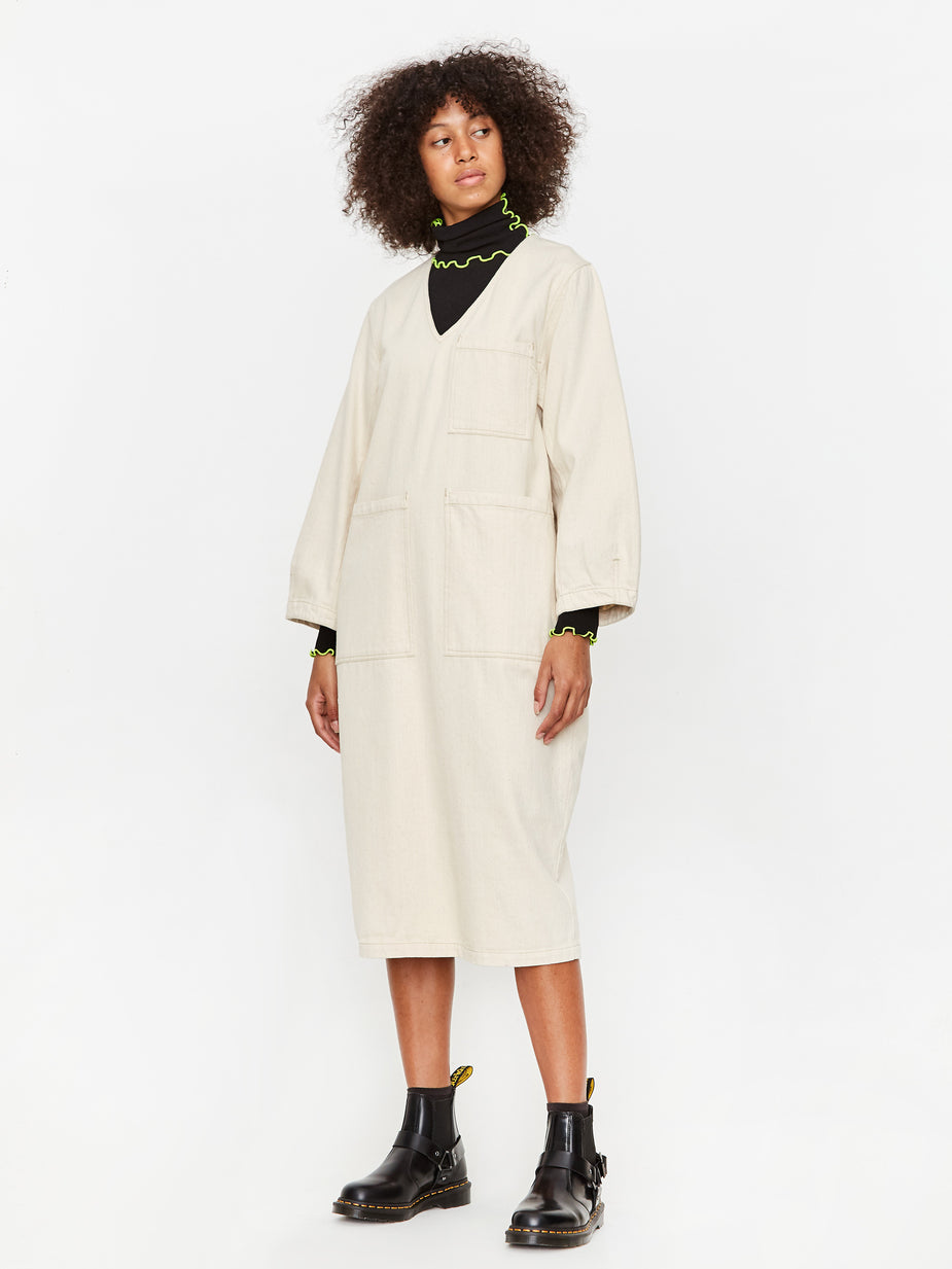 LF Markey LF Markey Merlon Dress - Ivory - White