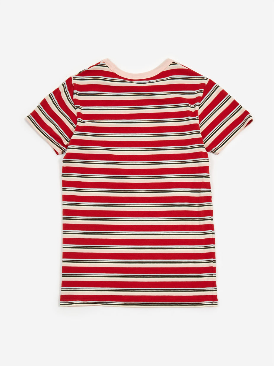 MadeMe MadeMe x X-Girl Baby T - Red Stripe - Red