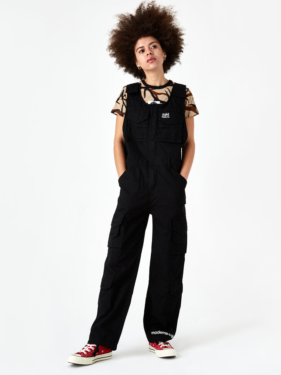 MadeMe MadeMe x X-Girl Cargo Overall - Black - Black