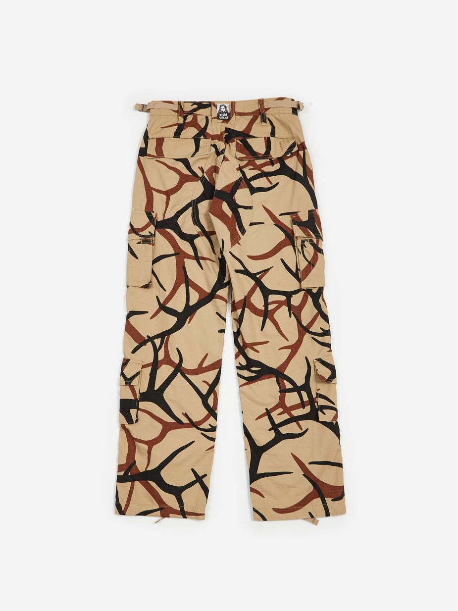 MadeMe MadeMe x X-Girl Cargo Pant - Tan - Orange