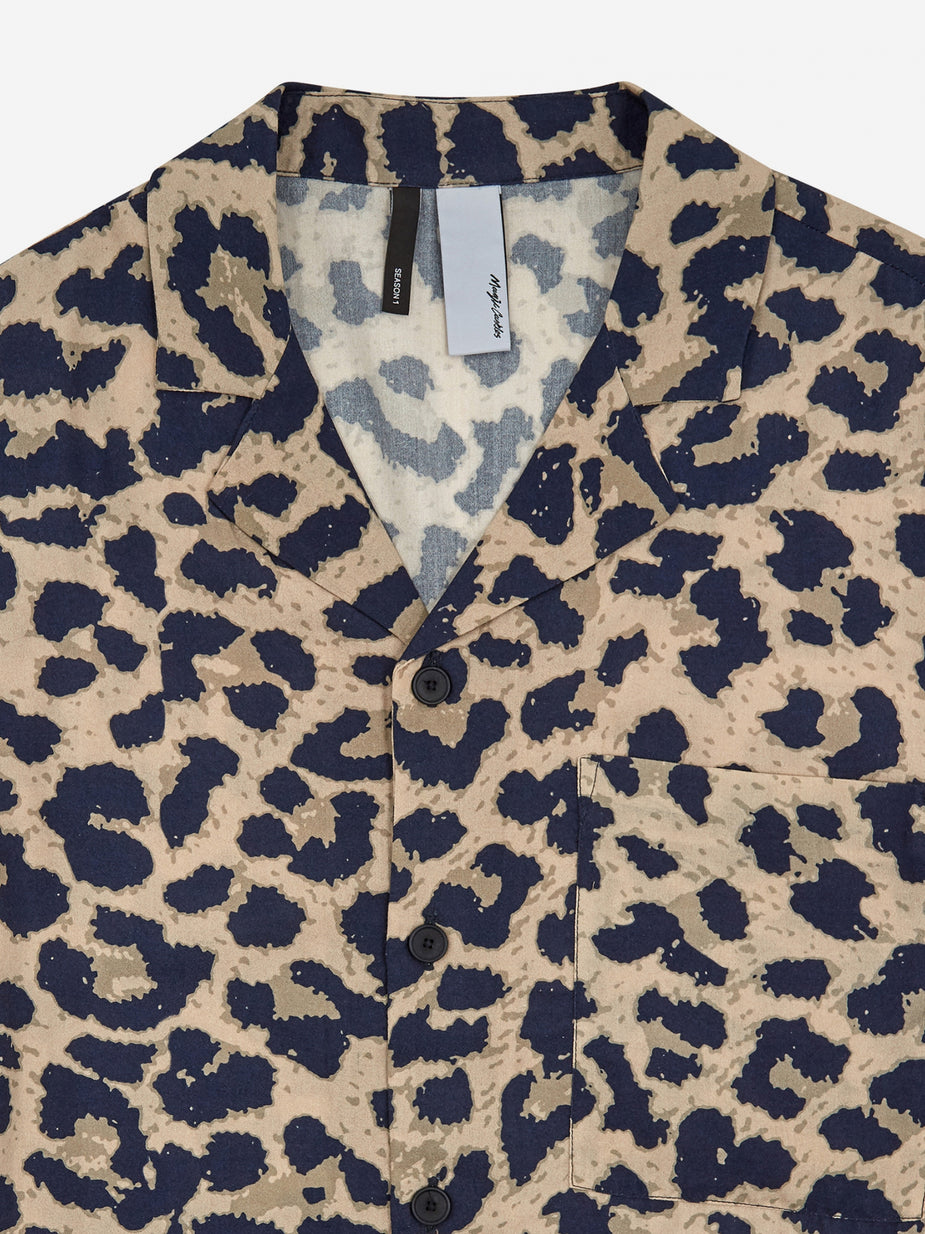 Magic Castles Magic Castles Camp Collar Shirt - Leopard - Animal Print