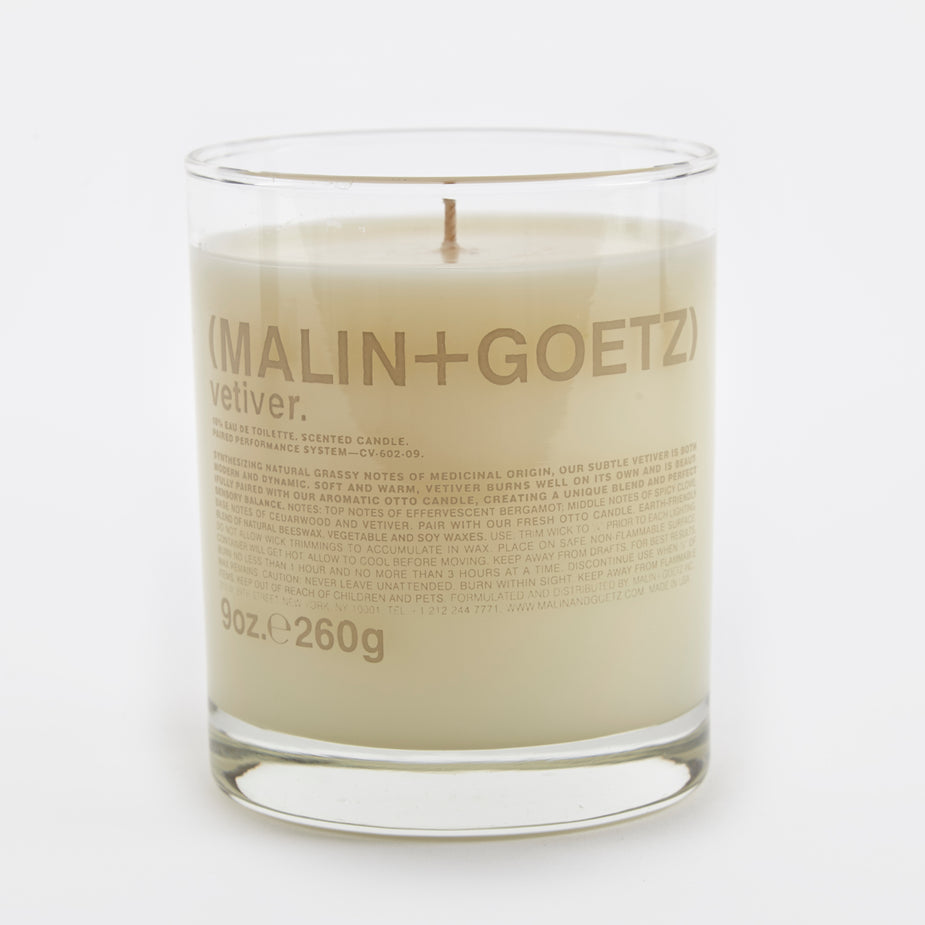 Malin+Goetz Malin+Goetz Scented Candle 260g - Vetiver - Grey