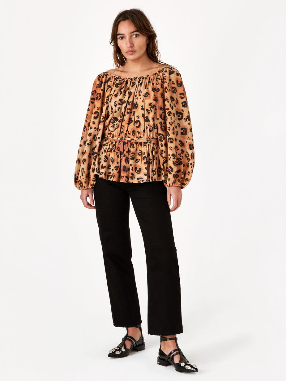 Mara Hoffman Mara Hoffman Maud Top - Brown Multi - Brown