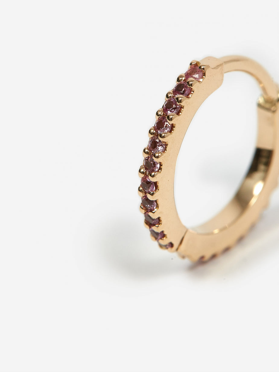 Maria Black Maria Black Rainbow Huggie Pink Sapphire - 14kt Yellow Gold - Gold