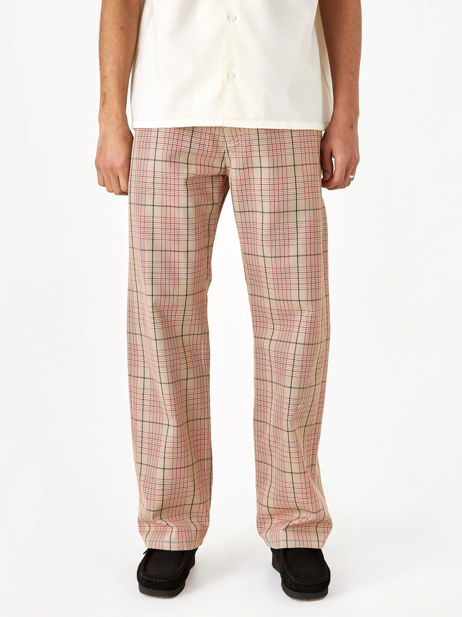 Marni Marni Cotton Overcheck Trouser - Red Check - Red