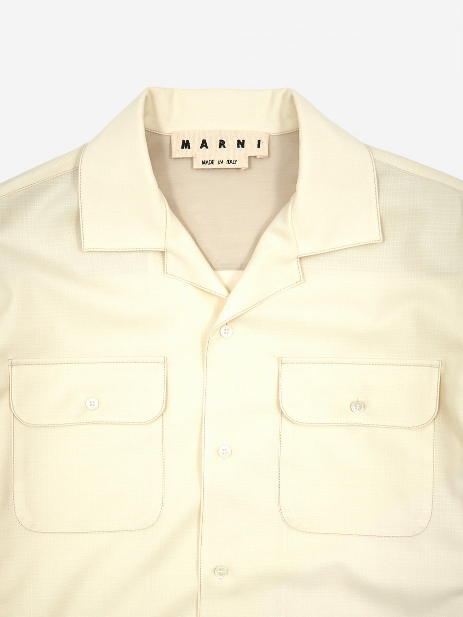 Marni Marni Fifties Fresco Shirt - Ivory - Neutrals
