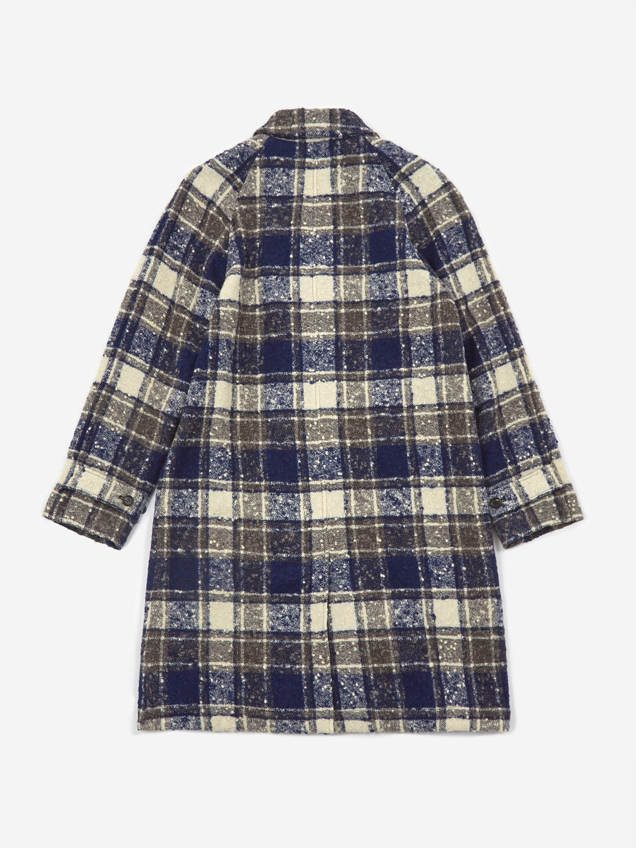 Marni Marni Overcheck Boucle Flannel Overcoat - Truffle Check - Multi