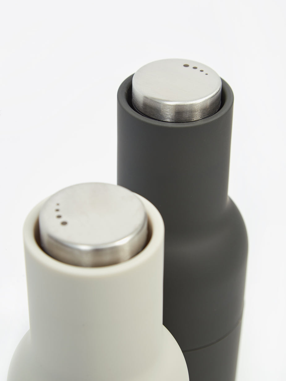 Menu Menu Bottle Grinder 2 Pack Steel Lid - Ash/Carbon - Grey