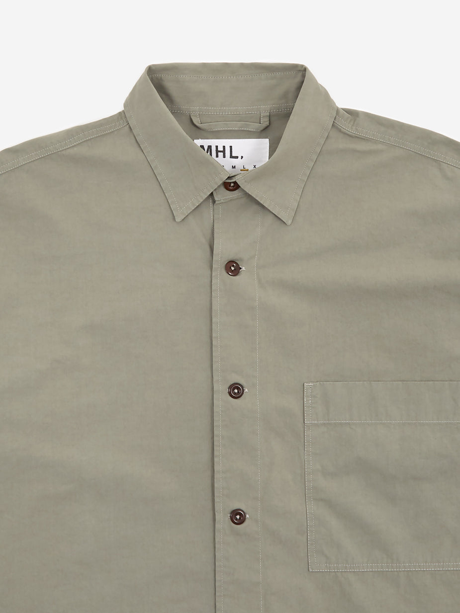 MHL. By Margaret Howell MHL. By Margaret Howell Oversized Work Shirt - Sage - Green
