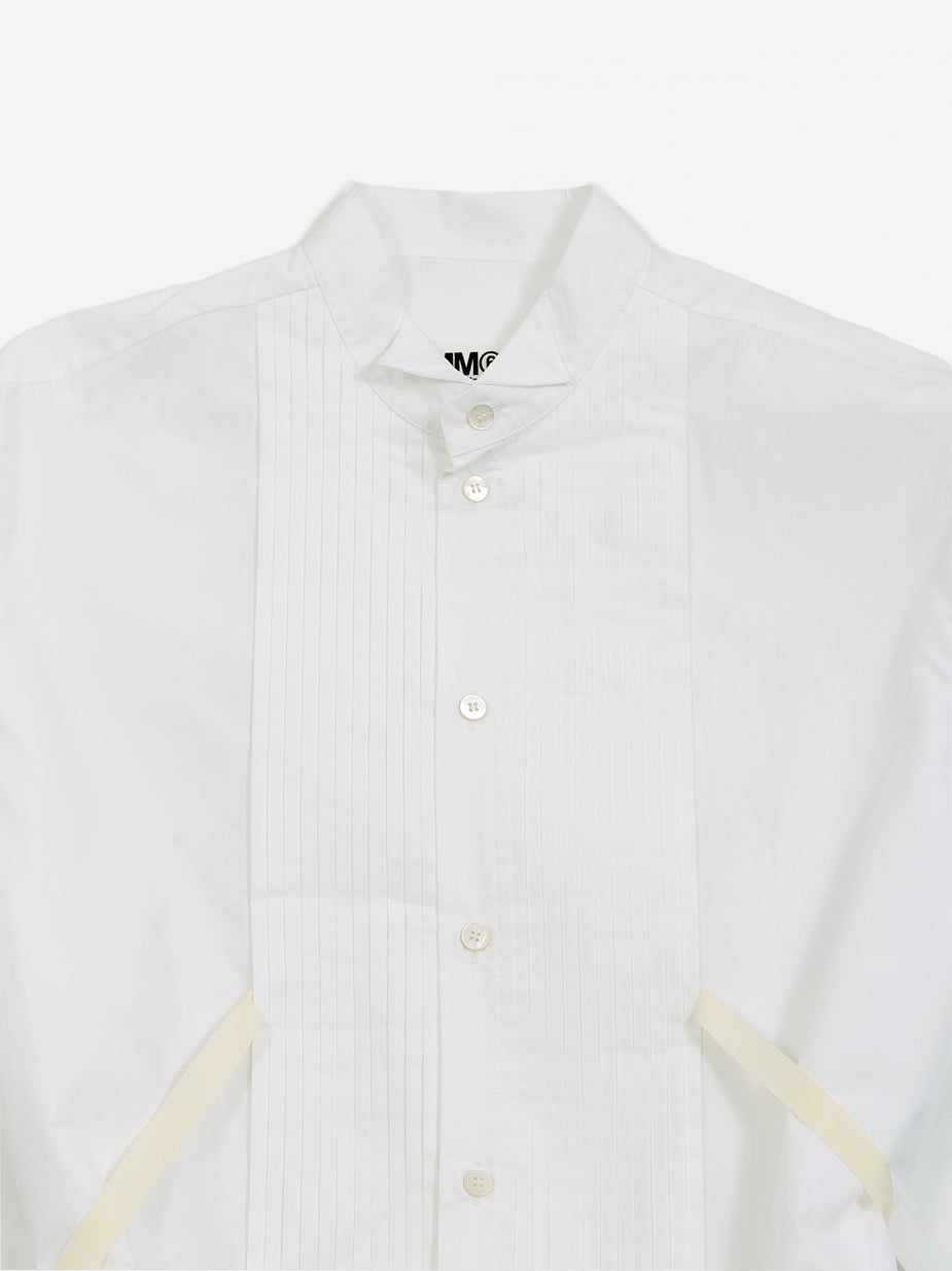 MM6 Maison Margiela MM6 Maison Margiela Pleat Front Shirt - White - White