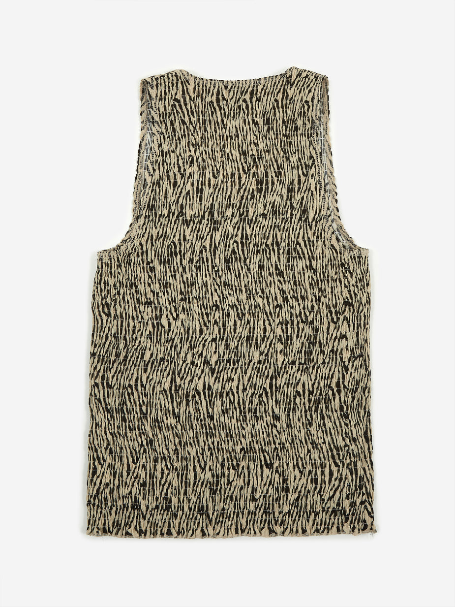 Nanushka Nanushka Antia Sleeveless Top - Zebra Block Print