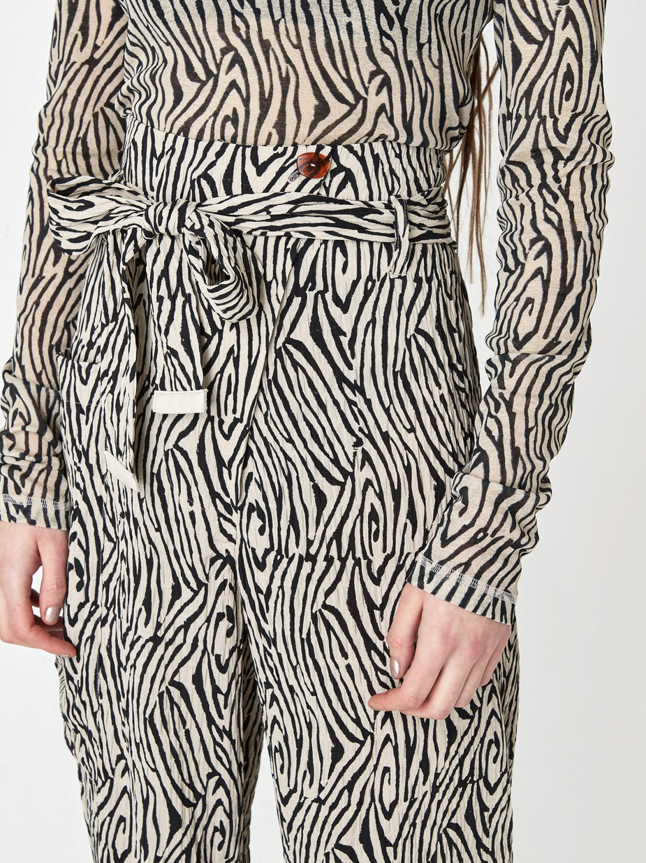 Nanushka Nanushka Marlin Trouser - Zebra Block Print - Other