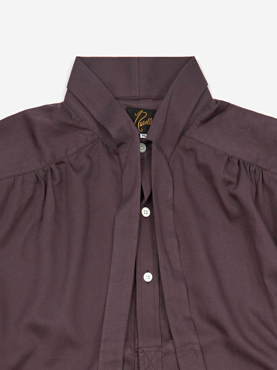 Needles Needles Ascot Collar EDW Gather Shirt - Purple - Purple