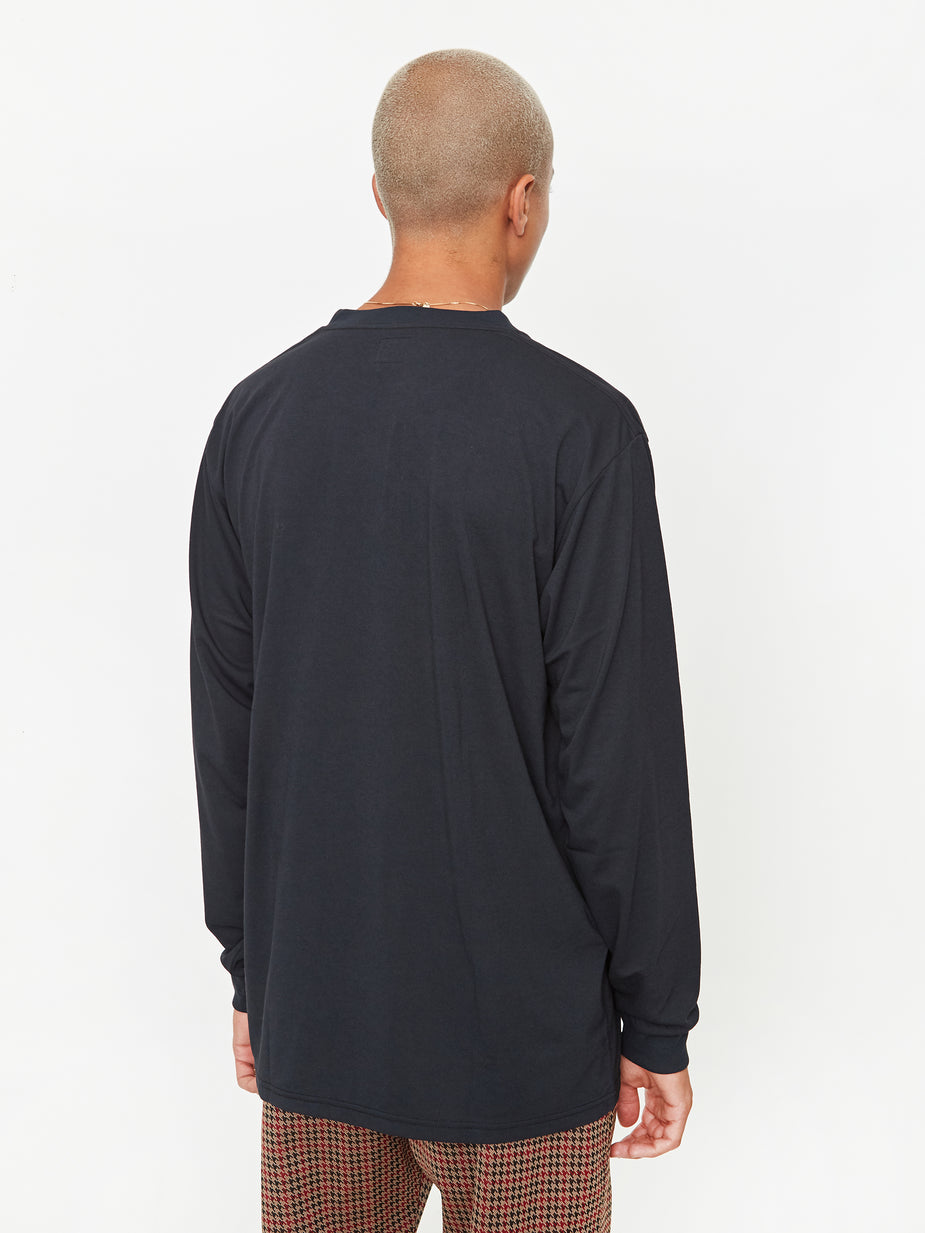 Needles Needles Longsleeve Crew Neck T-Shirt - Black - Black