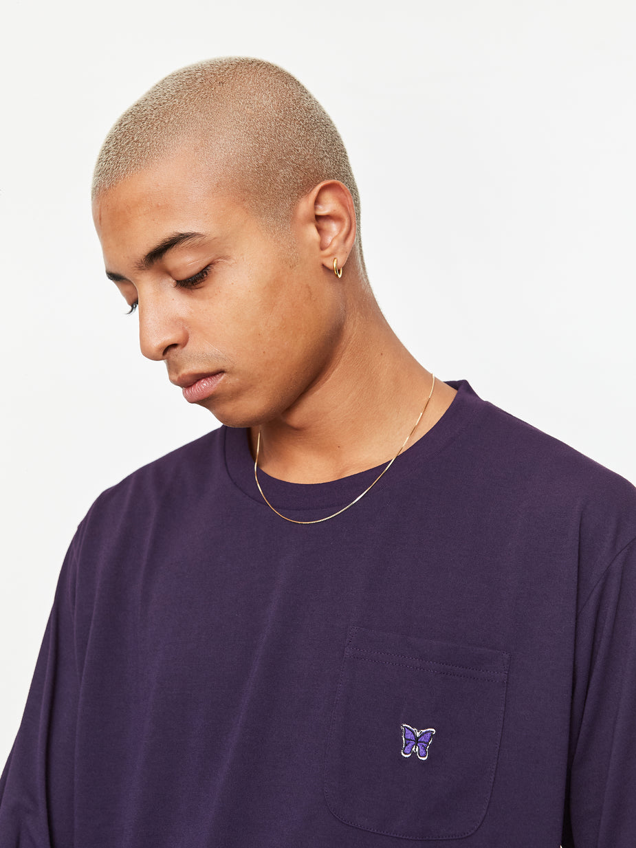 Needles Needles Longsleeve Crew Neck T-Shirt - Eggplant - Purple