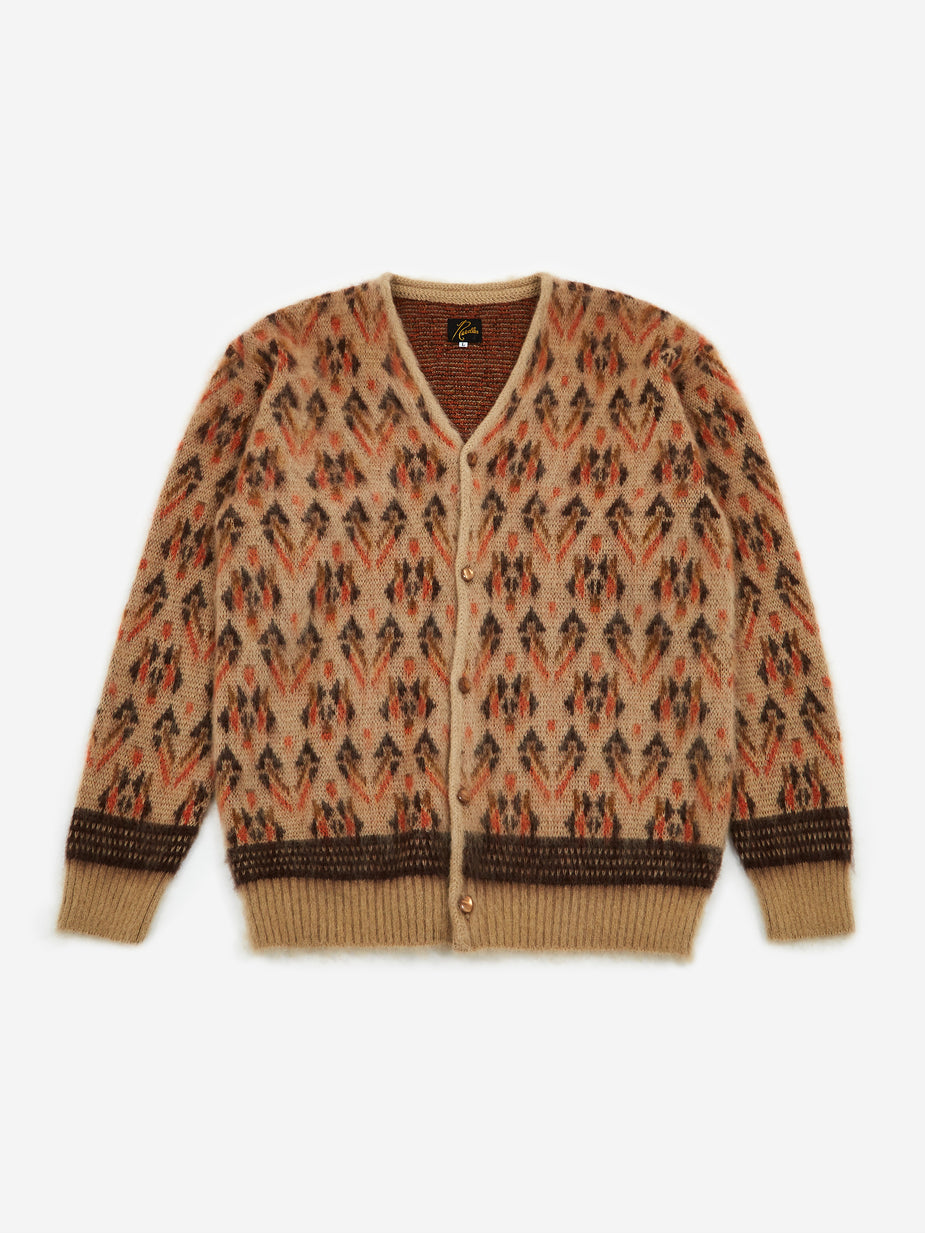 Needles Needles Mohair Cardigan Triangle - Beige - Brown