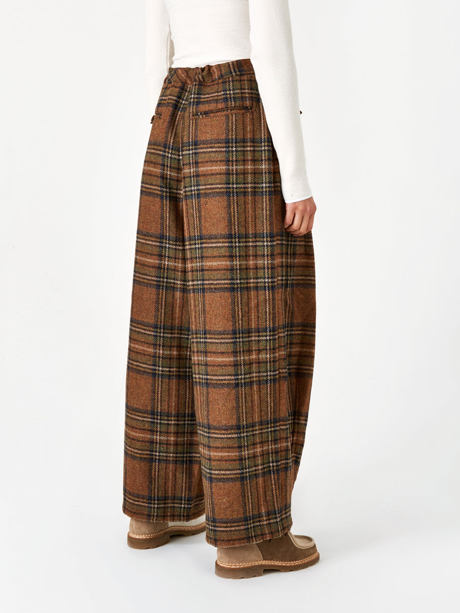 Needles Needles Plaid Tweed Darts Military Pant - Brown - Brown
