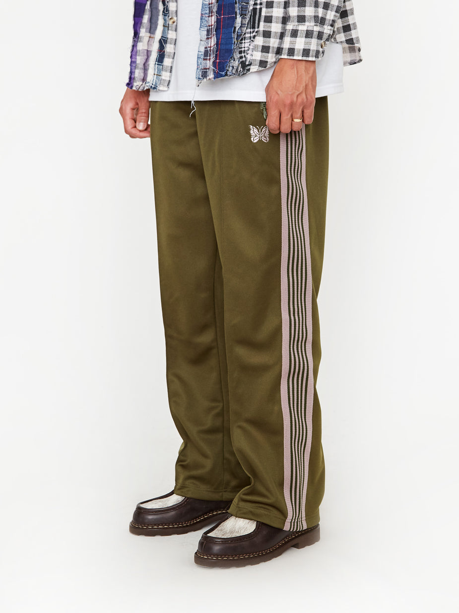 Needles Needles Track Pant Poly Smooth - Olive - Green