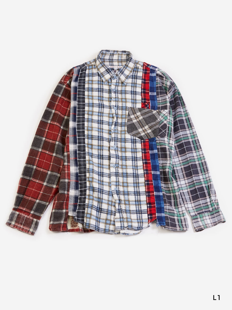 Needles Needles 7 Cuts Gathered Flannel Shirt Size Large - Multi - Multi