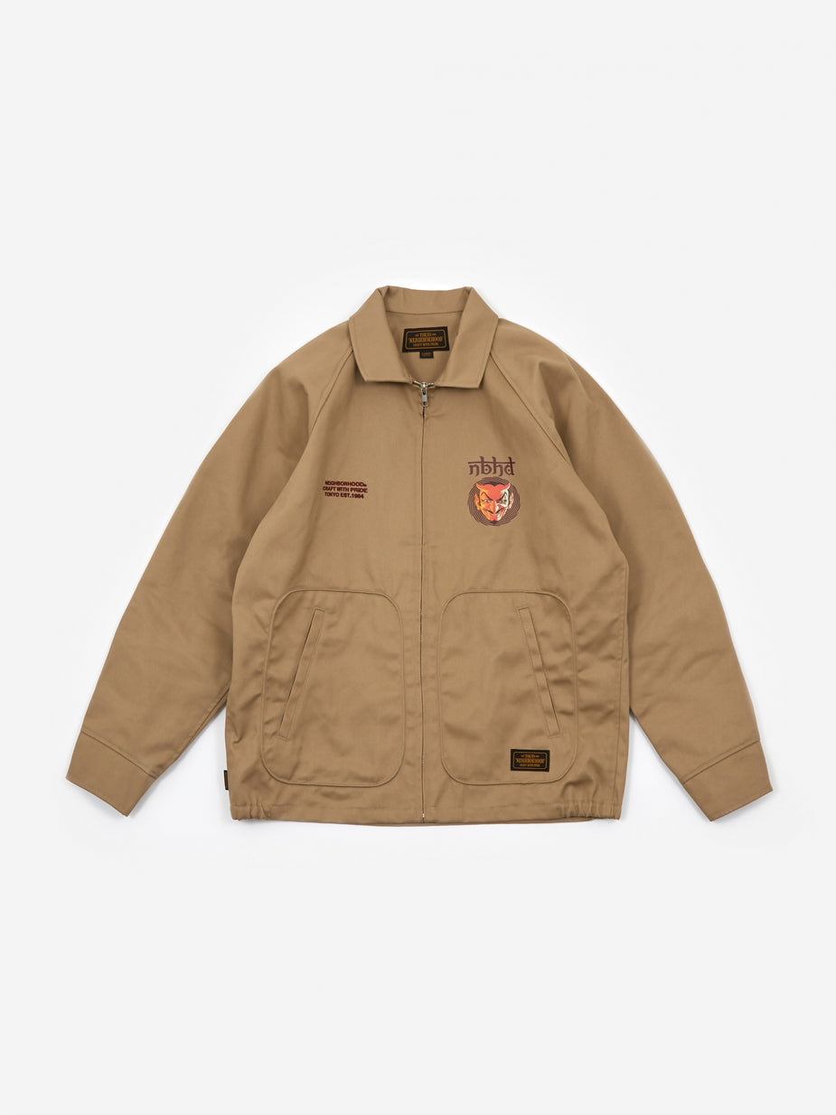 Neighborhood Neighborhood Drizzler/ EC Jacket - Beige - Neutrals