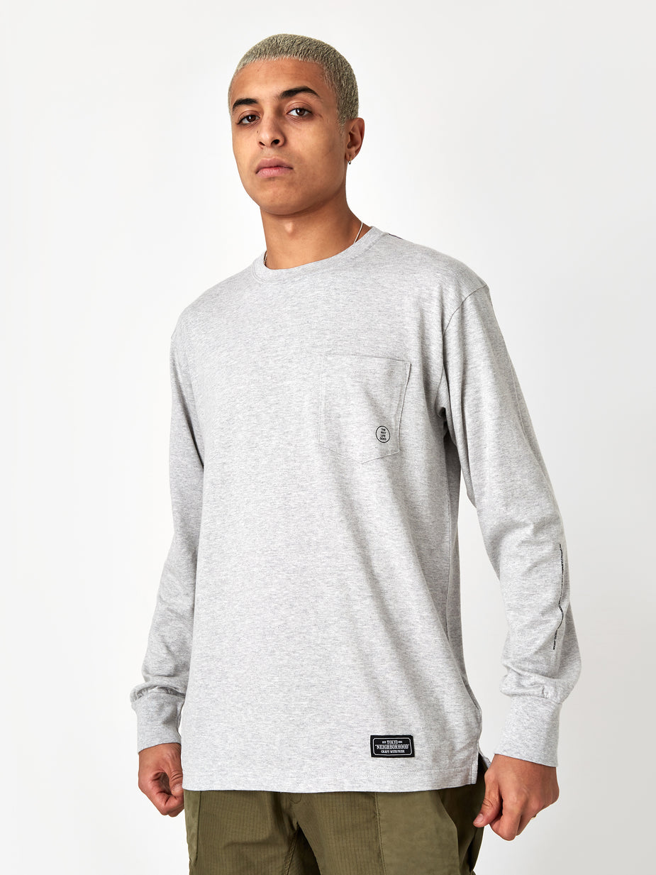 Neighborhood Neighborhood Longsleeve Classic-P / C - Grey - Grey
